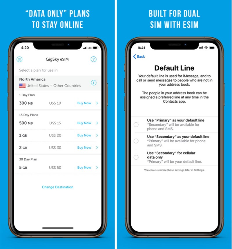 gigsky announces esim support for iphone xs xs max and xr
