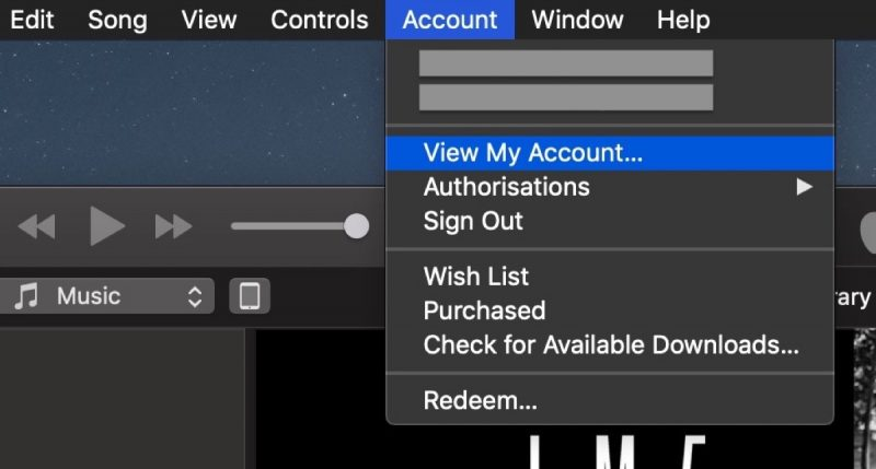 deauthorizing itunes accounts