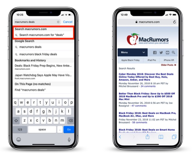 How to Perform a Quick Website Search in Safari - MacRumors