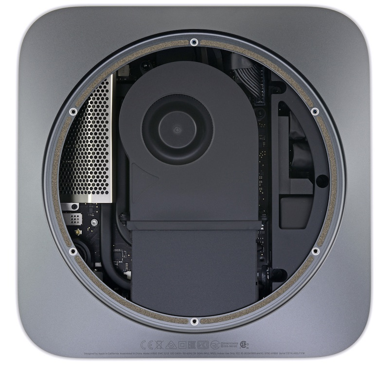 2018 mac mini teardown user upgradeable ram but soldered down cpu and storage