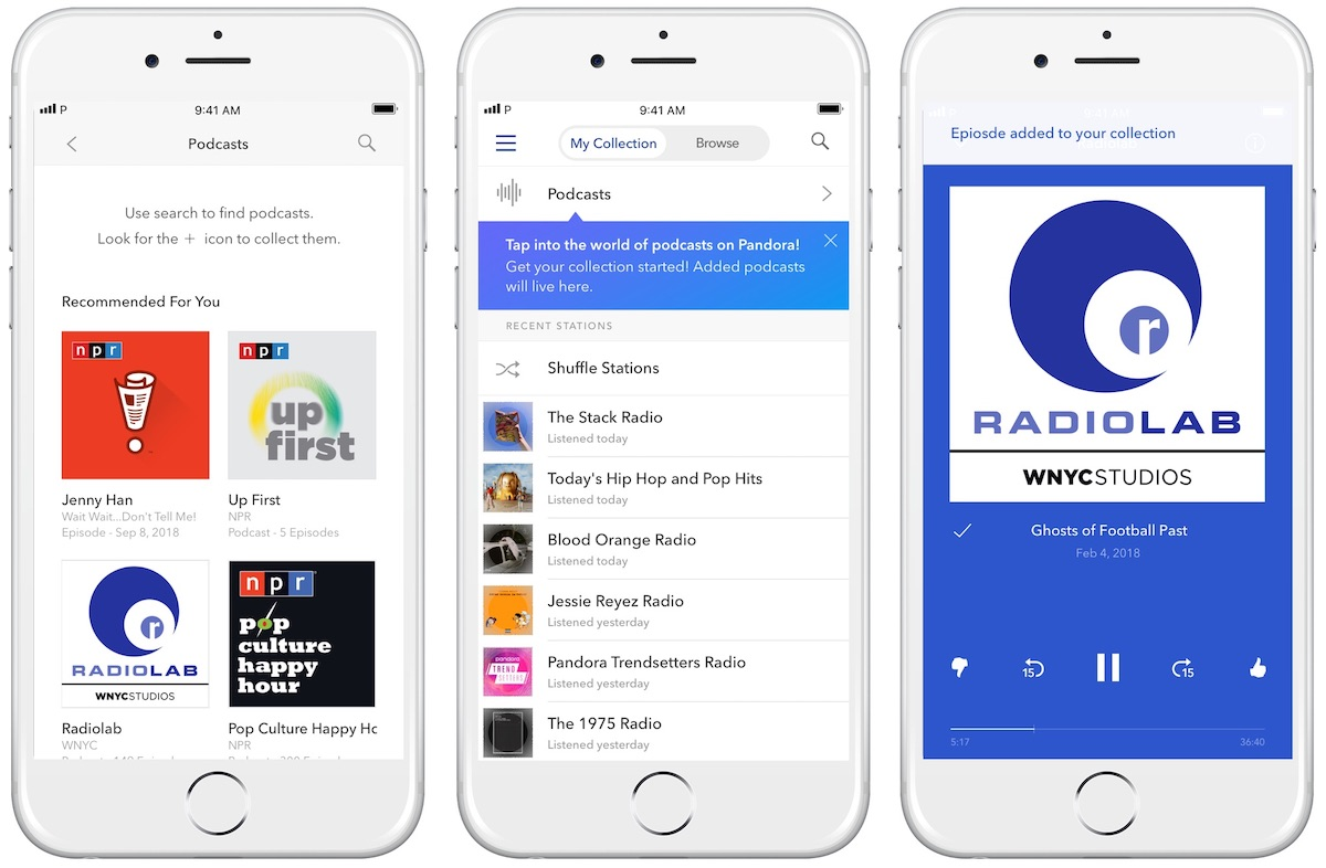 Pandora Announces Personalized Podcast Curation With the