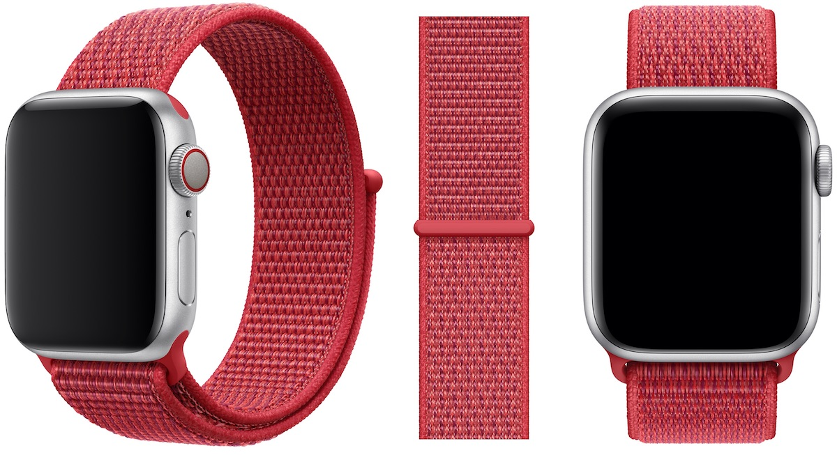 apple watch gains new product red sport loop