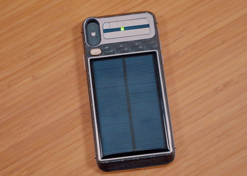 The Solar Addition Is A 2 300mah Battery That Can Be Used To Charge Iphone And Itself Charges Using Of Sun Or Via Usb