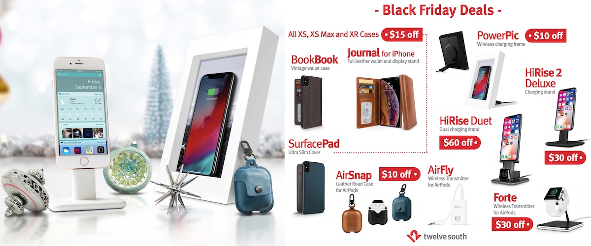 BookBooks for iPad Pro are available for 50% off, as are SurfacePads. There are also solid deals on Twelve South's range of iPhone cases and its Apple Watch accessories.