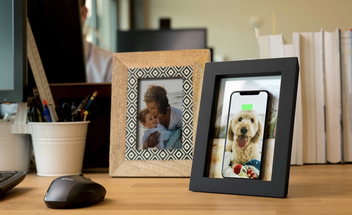 twelve south launches powerpic wooden picture frame with 10w qi charger for 80