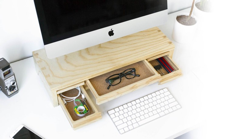 macrumors giveaway win a wood imac stand or shelf from understands