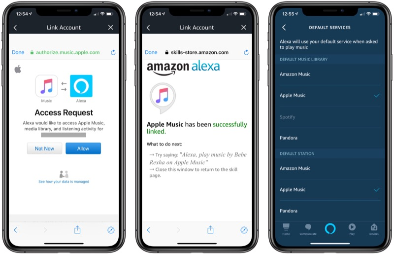 How to play music from iphone through alexa