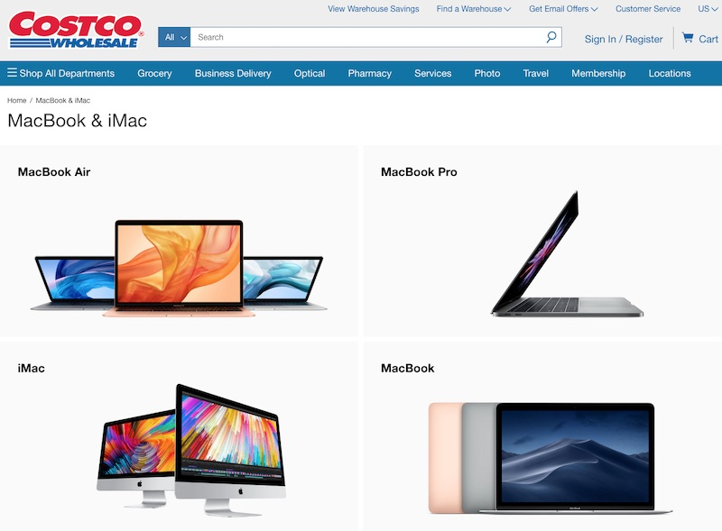 timeless design 59d50 1b57f Costco Begins Selling Select Macs on Web at $50 to $200 Discount ...