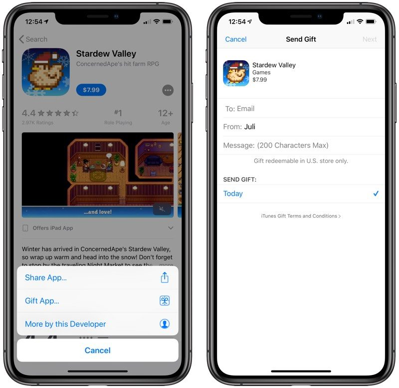 Apple Changes App Store Rules to Allow Users to Gift In-App