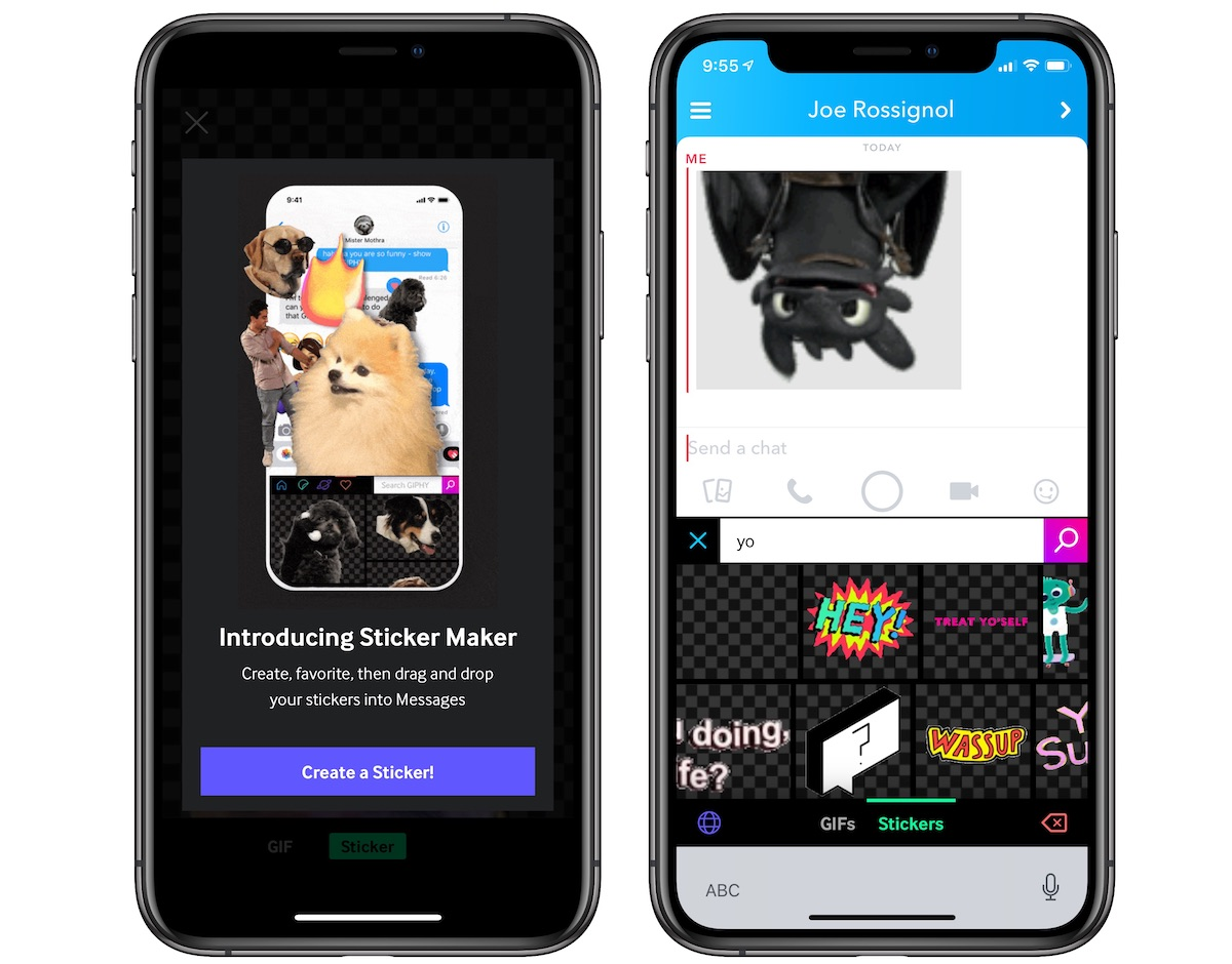 Giphy Updates With 'Sticker Maker' Feature for iPhone X