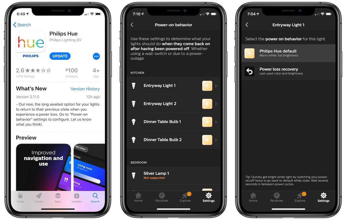 Philips Hue Bulbs Can Now Remain Off Following a Power