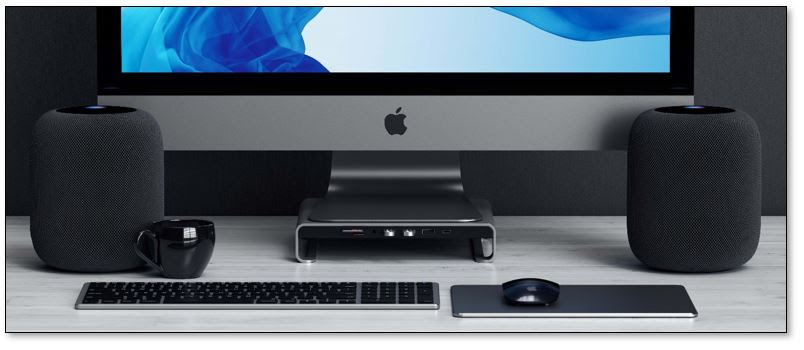 satechi launches new type c aluminum monitor stand hub for imac