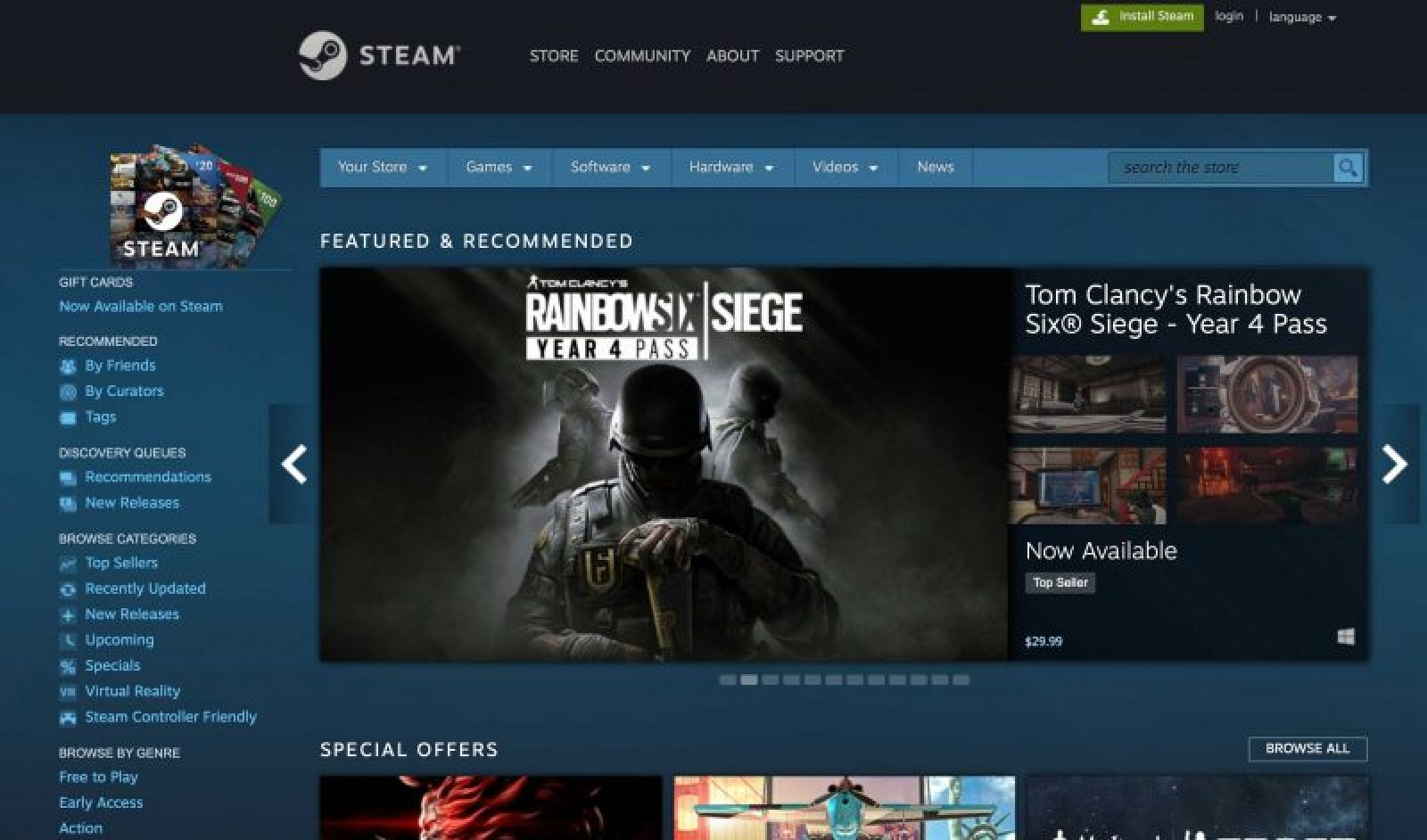 Play, connect, create and more. Install Steam today and start gaming!