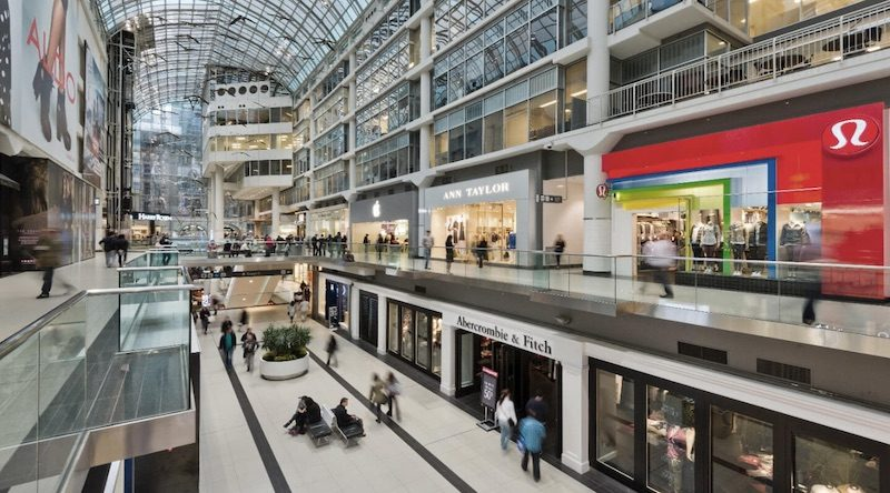 88770cd787 A view of the existing Apple and Abercrombie & Fitch stores at the Eaton  Centre. It is certainly possible that Apple could also take over a few  additional ...