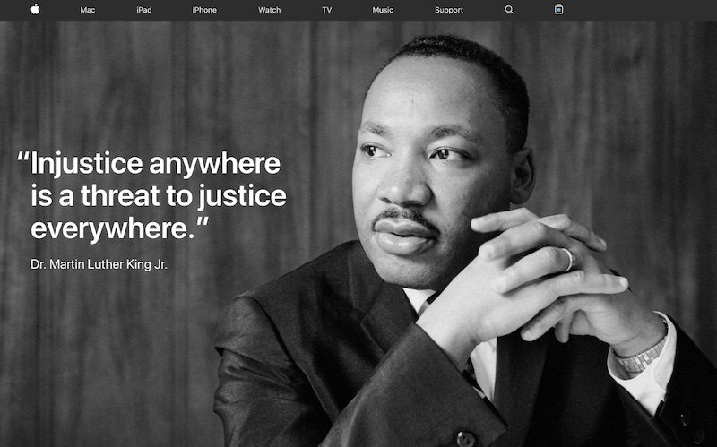 Apple And Tim Cook Commemorate Dr Martin Luther King Jr Macrumors