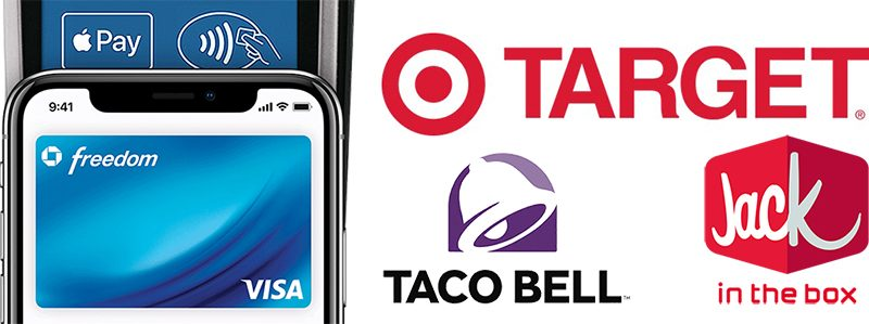 apple pay rolling out at target taco bell and jack in the box across the u s in coming weeks