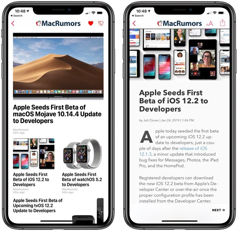 Apple Releases iOS 12 2 With Apple News+ Service, New