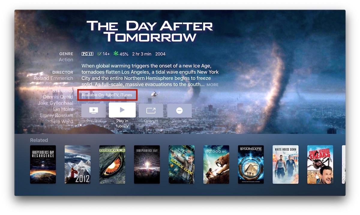 FuboTV Rolls Out Apple TV App Integration - MacRumors