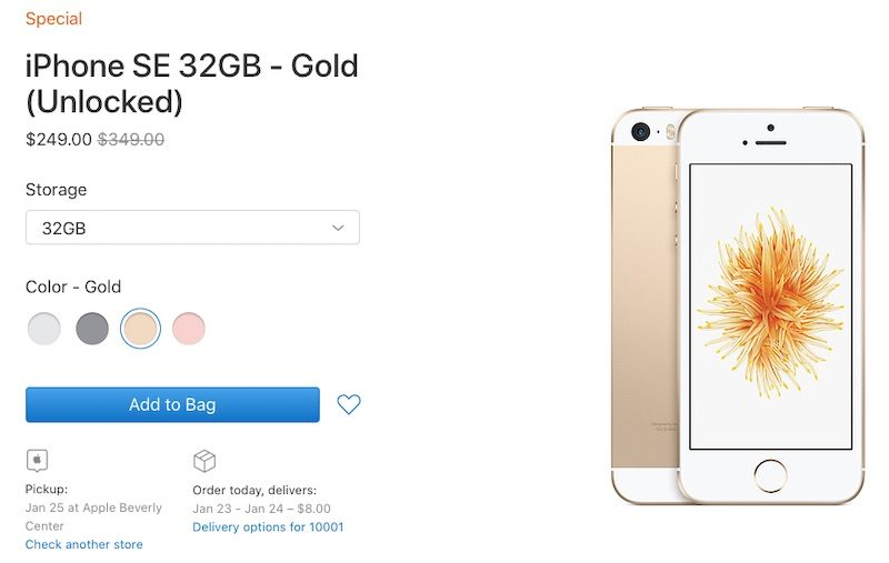 Apple Begins Selling Iphone Se Again On Clearance Store Starting At