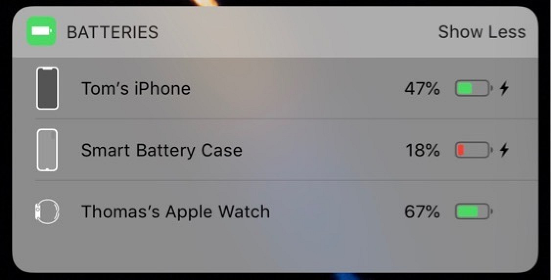iPhone XS-Like Smart Battery Case Icon Spotted in Action on iOS 12.1.2