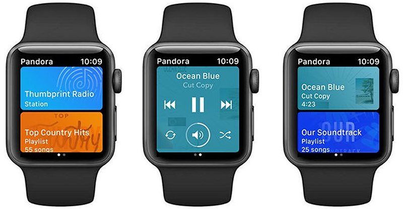 Pandora Launches Apple Watch App With Offline Playback
