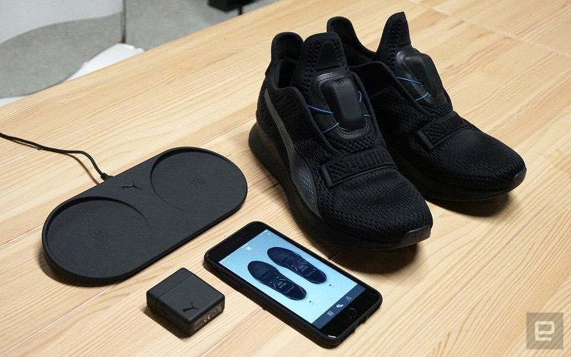 45ef23f68f7da8 Fi is an all-black shoe with a cordless motor at the top that s designed to  fit the shoe around the foot