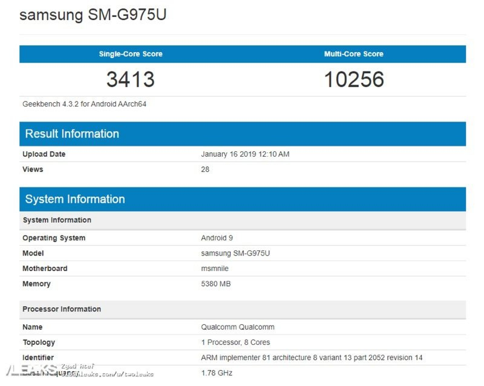 Leaked Benchmarks Suggest iPhone XS Outperforms Samsung's Upcoming Galaxy S10+