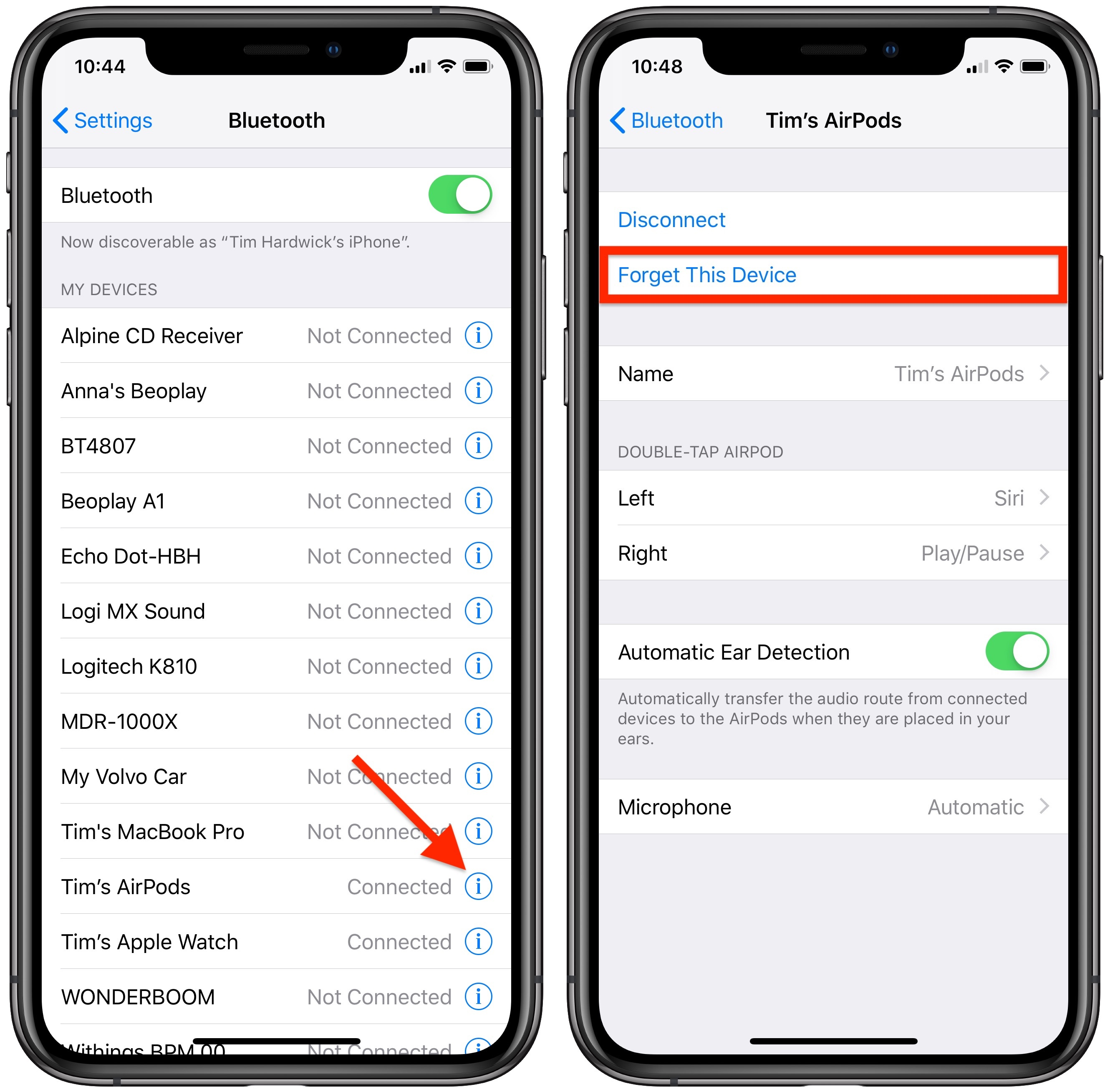 How to Unpair Your AirPods From iPhone, Apple TV, Apple Watch, or