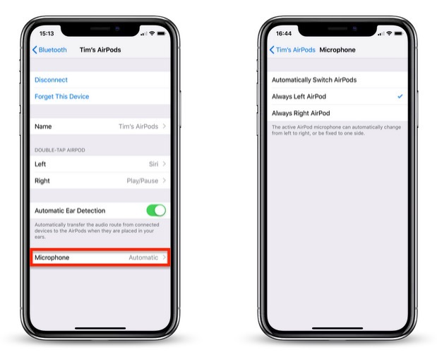 How to Set AirPods Microphone to Just One AirPod - MacRumors