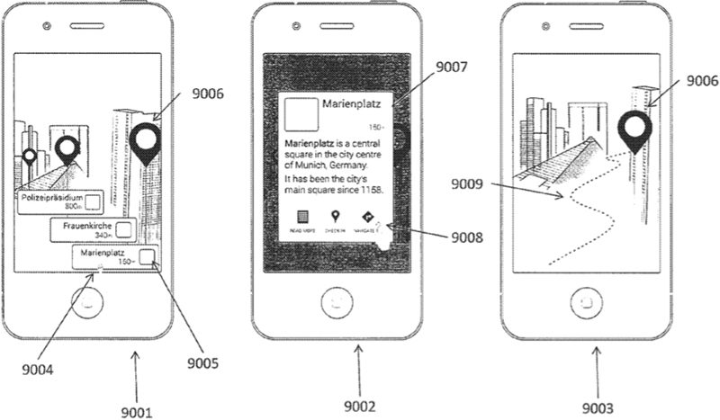 0997da371329 Apple Outlines How Augmented Reality Glasses Could Overlay Points of ...