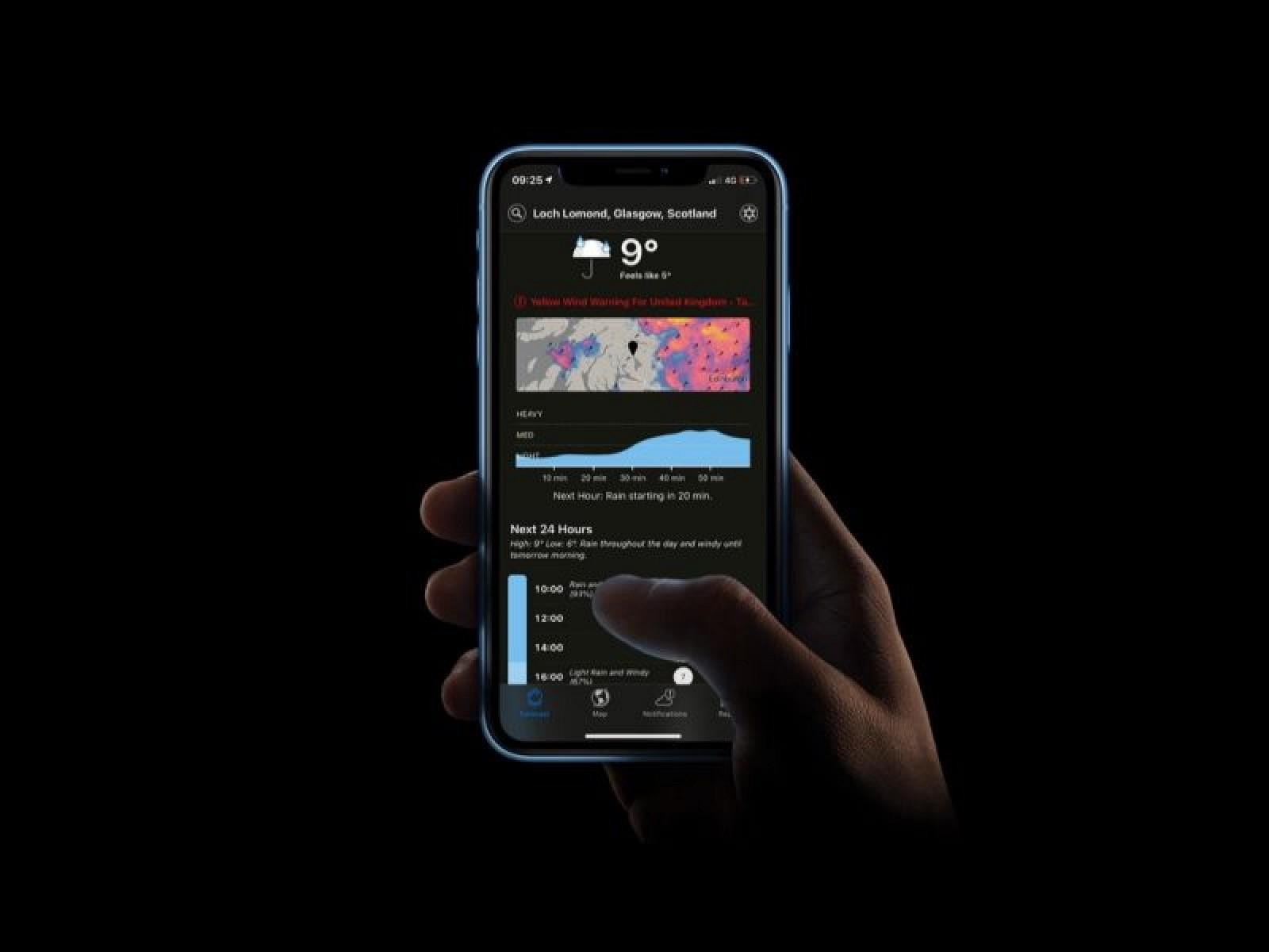 Popular Weather App 'Dark Sky' Gains Dark Mode
