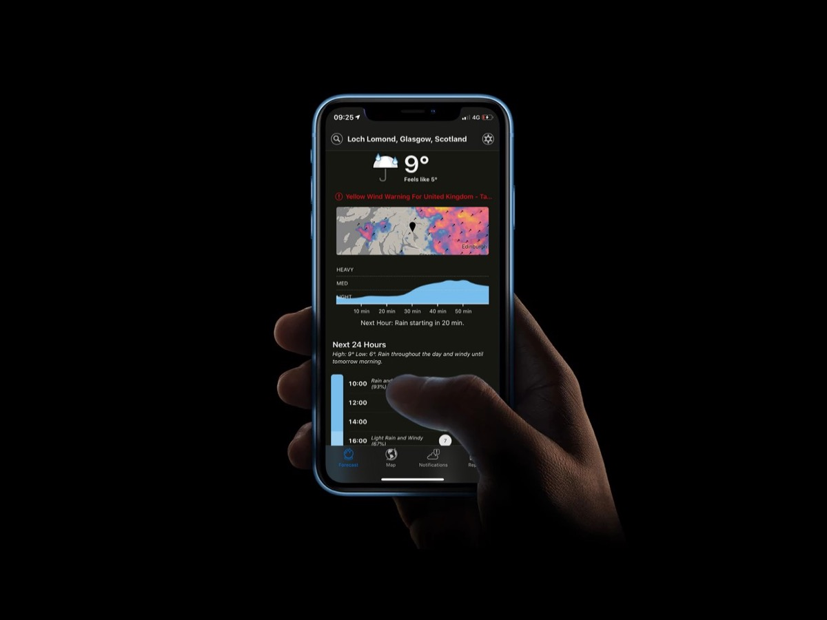 Popular Weather App 'Dark Sky' Gains Dark Mode - MacRumors