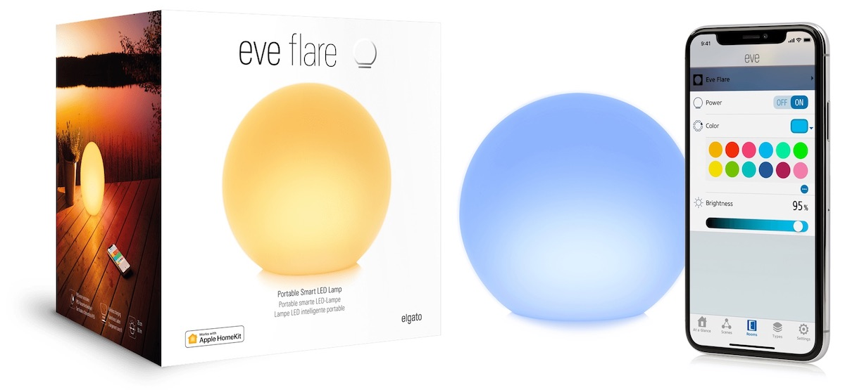 eve systems portable flare lamp with homekit support launches in the u s and canada