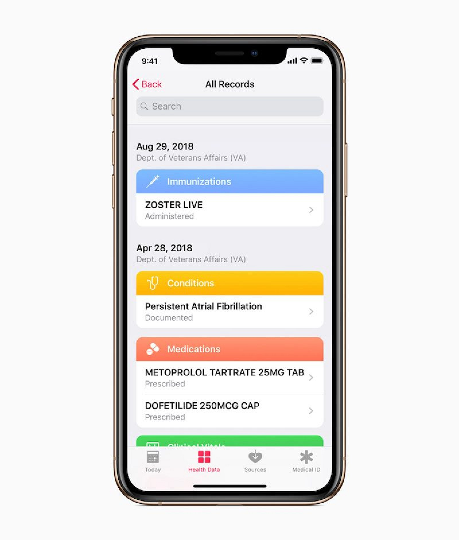 photo of Apple's Health Records Feature Will Be Available Soon to U.S. Veterans image