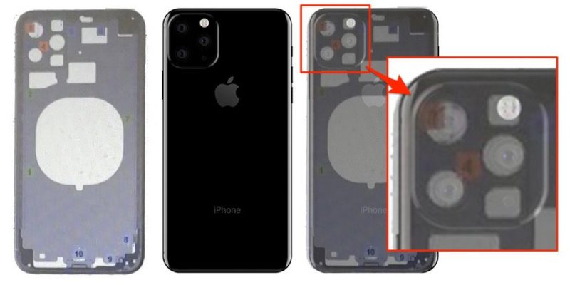 ce3faaef113 An image of an alleged rear chassis for one of the 2019 iPhone models  surfaced on Chinese social networking site Weibo in April