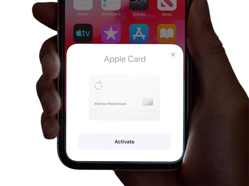 Apple Card activation screen