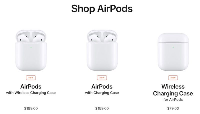 f7374f8c814 Apple is also offering the Wireless Charging Case separately for $79, so if  you already own first-generation AirPods you can buy the case and charge  your ...