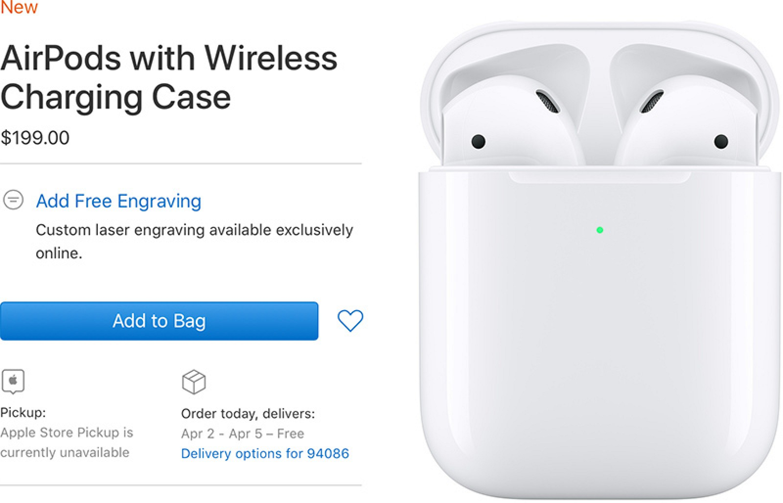 save off 2eeaf fbe5a AirPods With Wireless Charging Case Delivery Date Slips to April ...