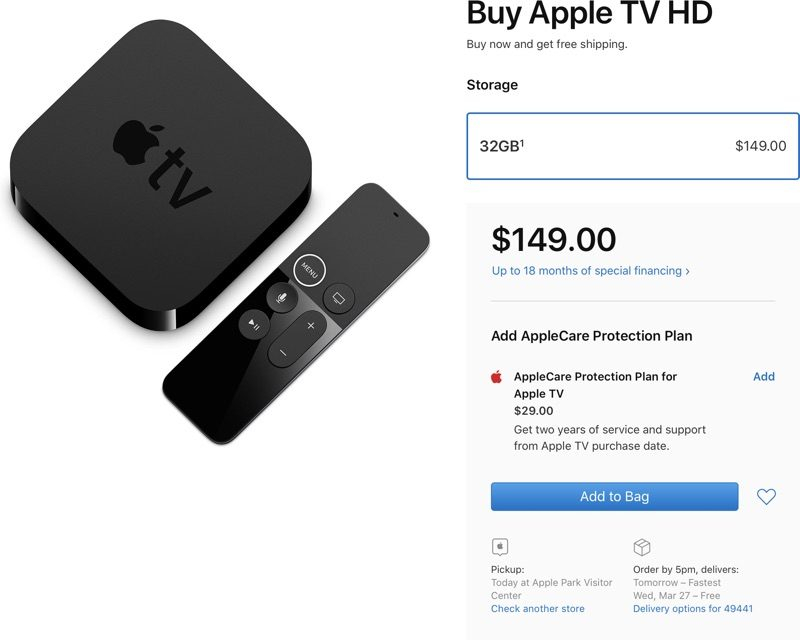 Fourth-Generation 1080p Apple TV Gets a New 'Apple TV HD