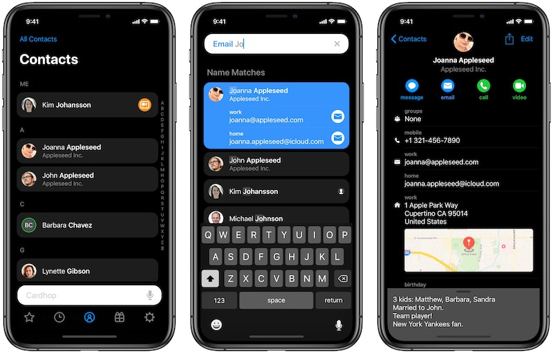 Cardhop's Intuitive Contacts Management Comes to iOS - MacRumors