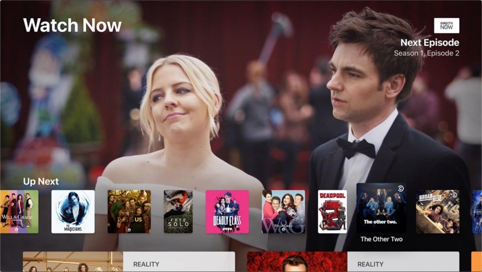 DirecTV Now Gains Apple TV App Integration