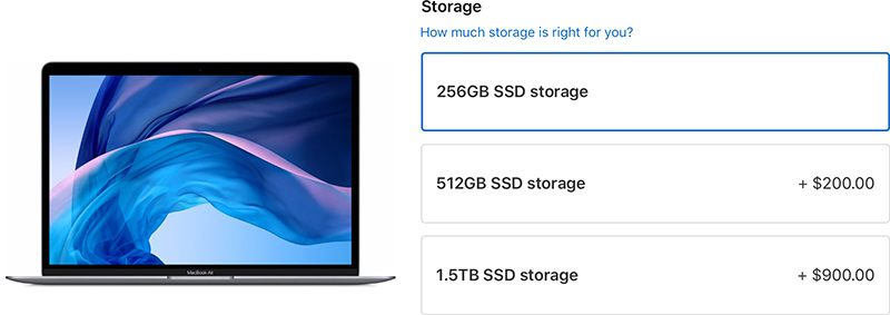 Apple Drops Prices on MacBook Air and Mac Mini SSD Upgrades, Lowers