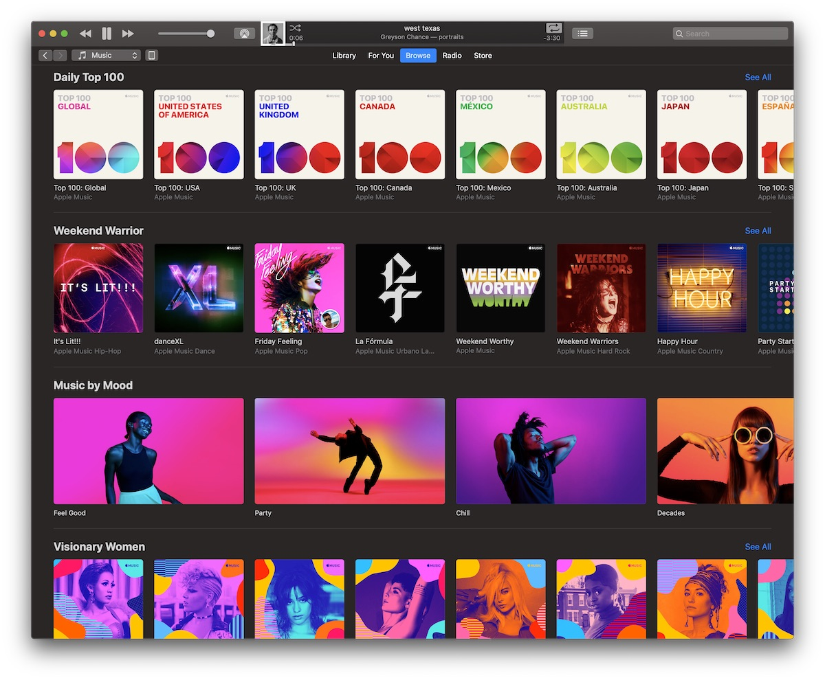 Apple Music Updates 'Browse' Tab With New Themed Sections - MacRumors