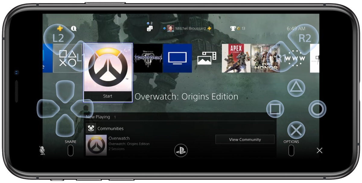 Sony Releases Remote Play App to Control Your PS4 With iPhone or