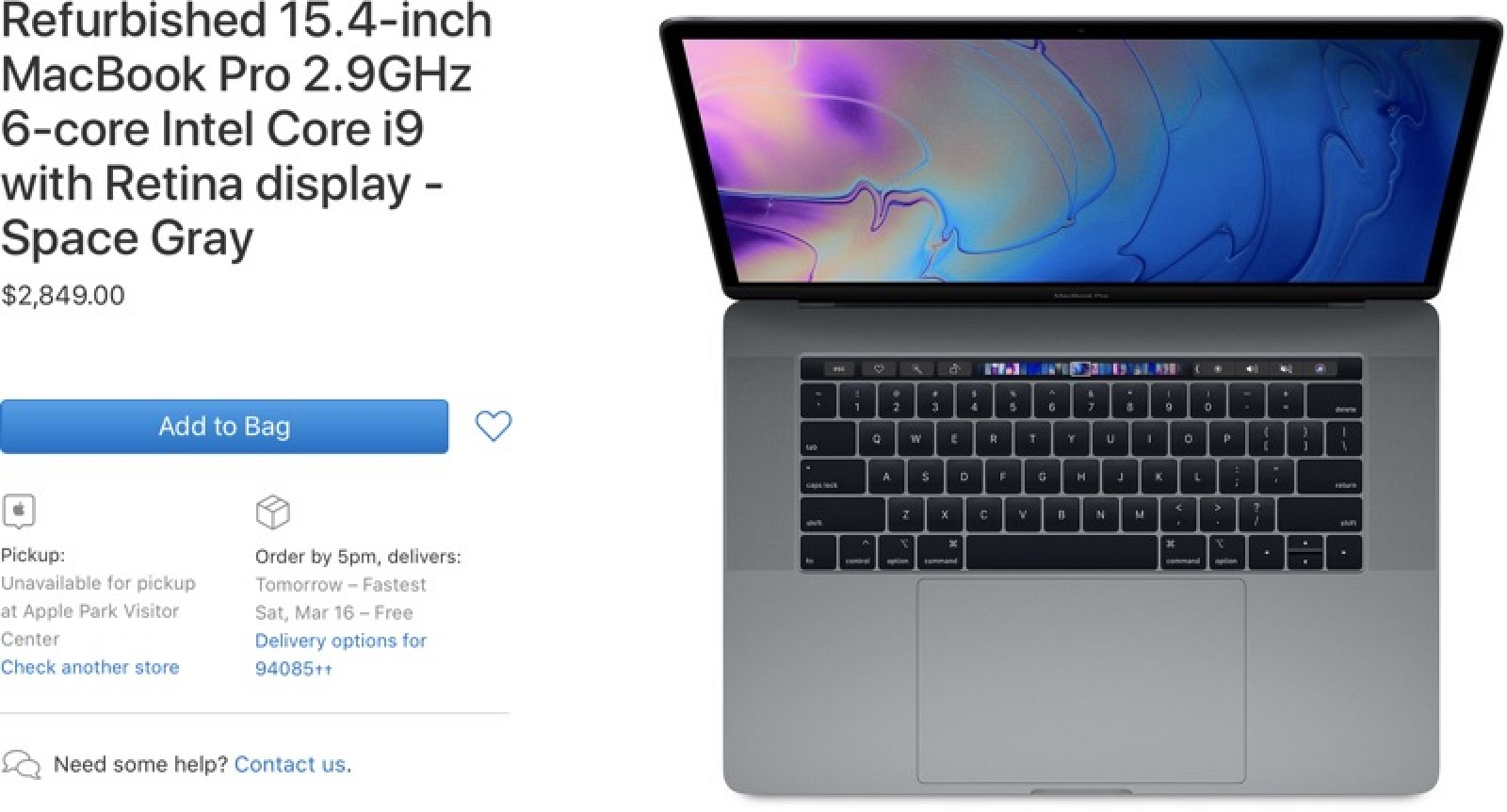photo of Apple Adds 15-Inch MacBook Pro Models With Radeon Pro Vega Graphics to Refurbished Store image