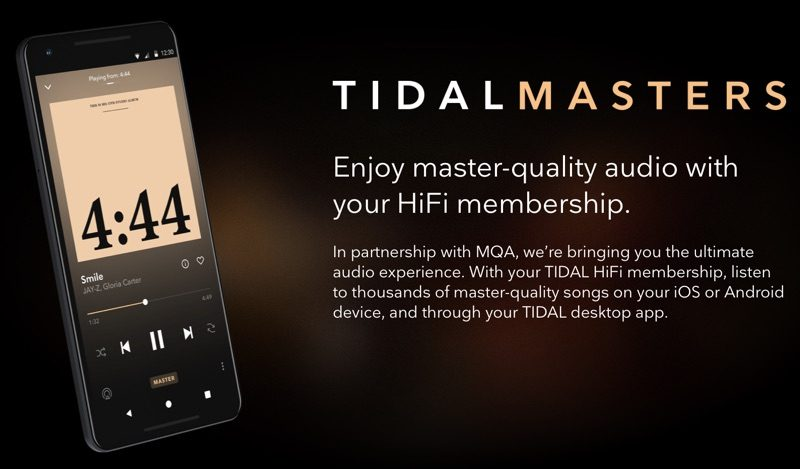Tidal's iOS App Gains Masters Quality Audio Support - MacRumors