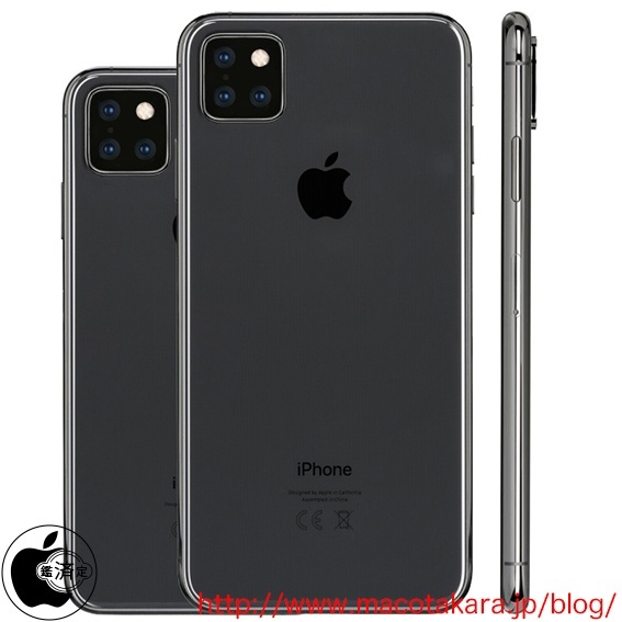 the renders are largely consistent with earlier ones shared by onleaks who also expects at least one 2019 iphone to have a triple lens rear camera