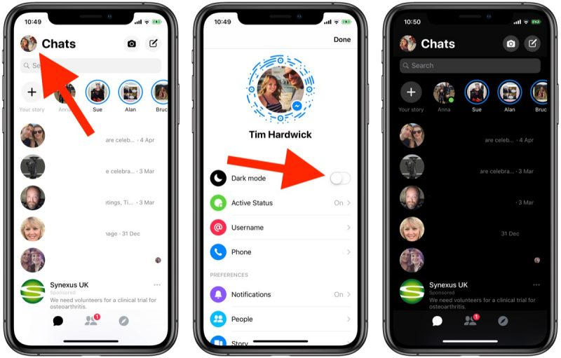 How to Enable Dark Mode in Facebook Messenger - MacRumors