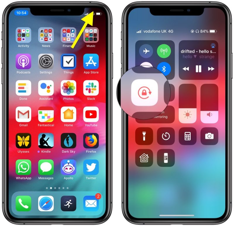how to rotate your iphone screen and adjust orientation lock