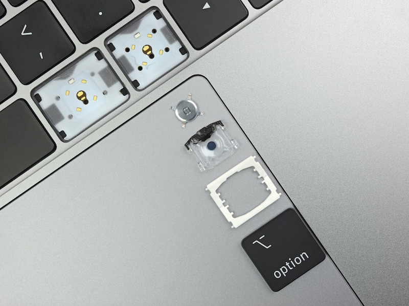 ifixit finds 2019 macbook pro keyboard has subtle changes to membrane cover and switches